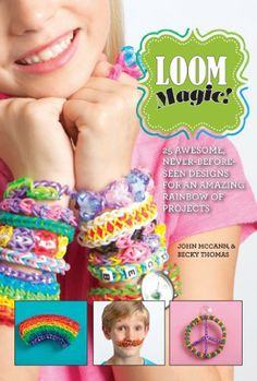 We are just over-the-top crazy about creating rubber band bracelets and accessories. Our favorite is the Rainbow Loom brand loom and we're always on the look out for new things to craft. We love to master the complicated projects too and this book delivers.