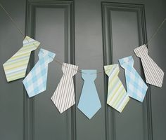 DIY alert!  This necktie banner is as cute as can be, AND it's easy to make.
