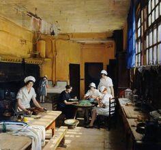 Artist: Frederick William Elwell Title: The Kitchen