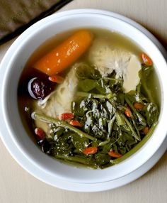 A great spin on chicken noodle soup