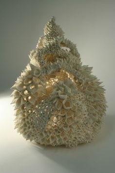 Fractals, nature, porcelain by Nuala of Donovan