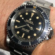 5512 Rolex Submariner out in the sun after a few years in the safe.