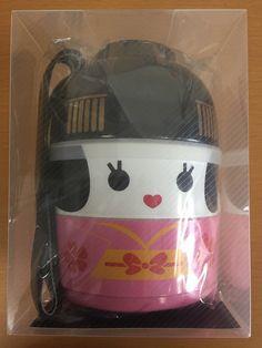 Hakoya Japanese Maiko Kokeshi Geisha Doll Lunch Bento Box 50642 Made Japan