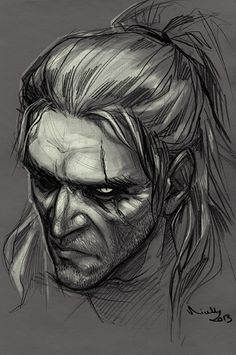 Geralt by ~TheMinttu on deviantART