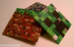 Minecraft coasters made out of Perler beads    Find more cool teen program ideas at www.the4yablog.com