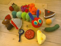 Crochet the hungry caterpillar