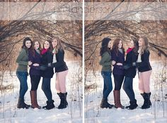 Chicagoland High School Senior Girls in the Snow Besties, Bff, Snow Fashion, Senior Girls, High School Seniors, Senior Pictures, Homecoming, Girl Group, Snow Style