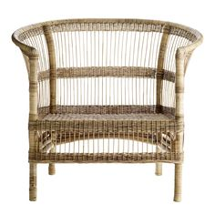 rattan lounge chair by Tinekhome
