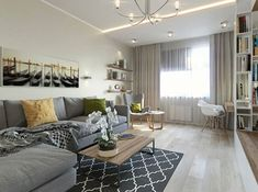 Bold bright accents can dilute a monochrome design without turning it into garbage! Studio 57, Interior Styling, Interior Design, Living Room Interior, Couch, Furniture, Turning, Monochrome, Home Decor