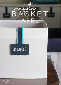 DIY Magnet Basket Labels   A Great Damage Free Option For Labeling ANY Bin  Or