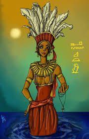 Anuket - Anuqet è una divinità egizia appartenente alla religione dell'antico Egitto, sorella della dea Satet, con cui insieme a Khnum formava la cosiddetta triade di Elefantina. Si considera protettrice delle acque del Nilo; viene raffigurata come una donna con un'alta corona di piume.  Anuquet compariva nelle rappresentazioni funebri insieme a Tueret, divinità rappresentante i canneti del delta del Nilo, simboleggiando i deserti del sud.