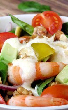 Shrimp Avocado Salad With Yogurt Dressing