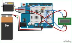 Schematic for Arduino Solar Panel Tracker using LDR and Servo Motor