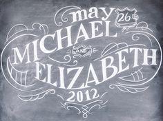 beautiful chalkboard signage   White Rabbit Studios