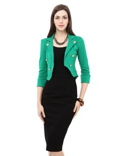 Doublju Womens Stylish Slim Fit 7Colors Gold Button Jacket for only $42.99 You save: $18.42 (30%) + Free Shipping