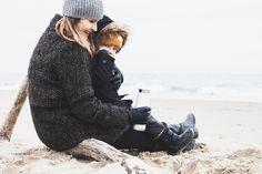 #momandson #winterattheseaside