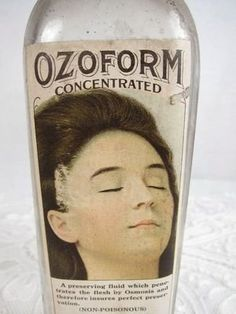 Vintage embalming fluid - I know, creepy but how could I not include this?!?