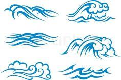 symbols for sea decorative silhouette vector - Buscar con Google