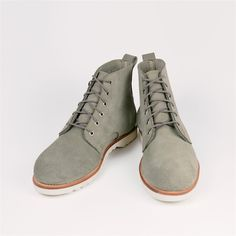 Blake Boot - Grey Mohave Suede. Made by Rancourt.