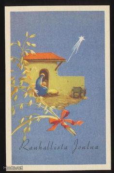 MARTTA WENDELIN 1944 Vintage Christmas Cards, Xmas Cards, Christmas Nativity, Joy To The World, Old Ones, Christian Art, Scottie, Christmas Inspiration, Martini