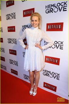 Love this dress!  Penelope Mitchell: Hemlock Grove Toronto Premiere!