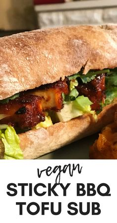 Vegetarian Recipes Discover Obsessed with Asian flavours? Try this banh mi inspired sticky BBQ tofu sub! Its sticky a little bit spicy and when you combine it with the freshness of cucumber and coriander its an absolute dream. Tofu Recipes, Whole Food Recipes, Vegetarian Recipes, Cooking Recipes, Healthy Recipes, Cauliflower Recipes, Vegan Foods, Vegan Dishes, Tofu Dishes