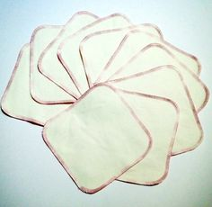 Cloth Nappy Bamboo Wipes Baby Bamboo Washcloths by BeckysBappies