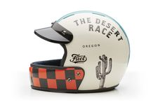 Veldt Helmets - The Desert Race x Fuel Motorcycles Limited Edition Retro Motorcycle Helmets, Retro Helmet, Vintage Helmet, Motorcycle Style, Motorcycle Gear, Motorcycle Accessories, Motorcycle Touring, Women Motorcycle, Motorcycle Quotes