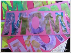 Spell MOM on mother's day with this colorful painting activity...