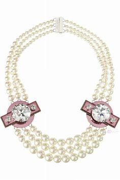 Miu Miu #pearls ~ Colette Le Mason @}-,-;---