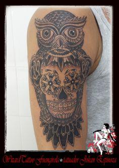 #tattoo buho / owl time 5:20 minut http://www.tattoostudio.es/  http://www.wizardtattoo-fuengirola.com/  http://www.pinterest.com/wizardtattoo/  http://instagram.com/wizardtattoofuengirola  http://www.flickr.com/photos/93920451@N06/  https://twitter.com/Wizardtattoo  https://plus.google.com/u/0/+johanespinozaWizardtattoofuengirola/posts