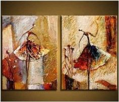 Painted Abstract Painting Decoration Stretched