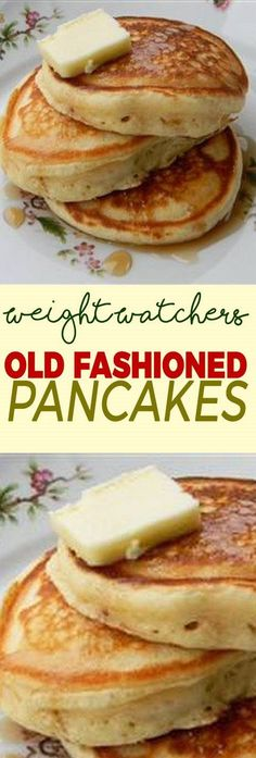 Healthy Recipes Old Fashioned Pancakes - Weight Watchers FreeStyle Smart Points Friendly Weight Watcher Desserts, Pancakes Weight Watchers, Weight Watchers Breakfast, Weight Watcher Dinners, Weight Watchers Diet, Weight Watchers Waffle Recipe, Skinny Recipes, Ww Recipes, Low Calorie Recipes
