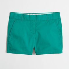 """J.Crew Factory 4"""" chino short ($15) ❤ liked on Polyvore featuring shorts, zipper shorts, short shorts, j.crew, chino shorts and j. crew shorts"""