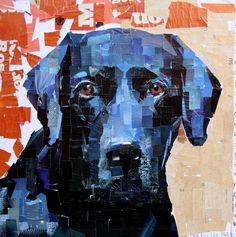 Handmade custom pet portraits by artist, Samuel Price. Each collage is created with paper to capture your dog's unique personality. Dog Quilts, Animal Quilts, Mosaic Animals, Color Collage, Collage Artists, Dog Paintings, Art Lesson Plans, Dog Portraits, Magazine Art
