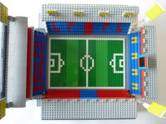See amazing Lego versions of Anfield, Highbury, Goodison Park and more Premier League grounds Lego Sports, Crystal Palace Fc, Lego Juniors, Goodison Park, Blue Dream, Premier League, Cheerleading, Liverpool, Red And Blue
