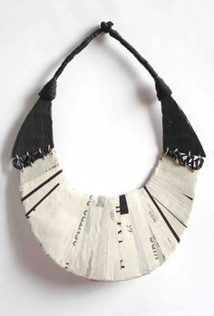 Paper jewelry using recycled materials