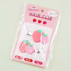 Strawberry Hair Clip Set - Blippo Kawaii Shop