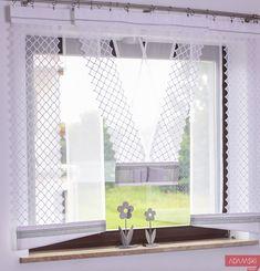 Firana v-ka z ażurami – dwa trendy na jednym panelu Decor, Curtains, Panel Curtains, Home, Curtains Living Room, Window Decor, Room, Interior, Furniture