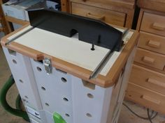 Portable router table and jigsaw on a festool systainer