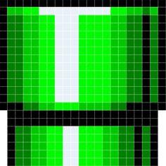 Super Mario: warp pipe Cross stitch or perler pattern Minecraft Pattern, Pixel Pattern, Minecraft Pixel Art, Pixel Art Templates, Perler Bead Templates, Perler Patterns, Perler Coasters, Perler Bead Mario, 8bit Art