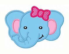 Girl Elephant Face Applique Machine by LovelyStitchesDesign, $2.99