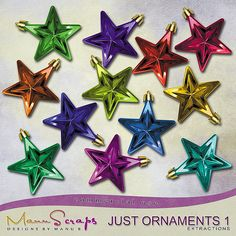 CU Just Ornaments Vol. 1 | CU/Commercial Use #digital #scrapbook design tools at CUDigitals.com #digitalscrapbooking