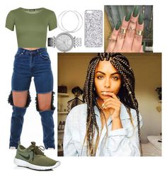 """Untitled #503"" by queen-ayanna on Polyvore featuring WearAll, NIKE and Michael Kors"