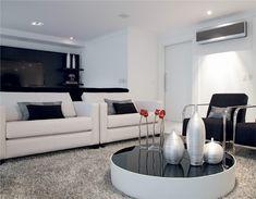 Ambientes em preto e branco são sofisticados, simples e bonitos.