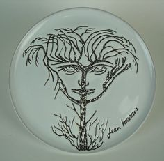 Ceramic Plate by Jean Marais | From a unique collection of antique and modern ceramics at https://www.1stdibs.com/furniture/dining-entertaining/ceramics/