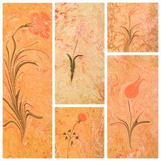 Collage of Ebru paintings