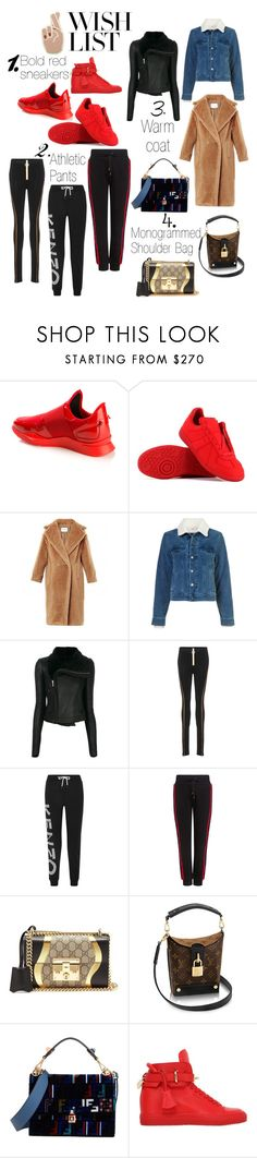 """""""#PolyPresents: Wish List"""" by k-zaldi ❤ liked on Polyvore featuring Givenchy, Maison Margiela, Yves Saint Laurent, Rick Owens, Off-White, Kenzo, Public School, Gucci, Fendi and BUSCEMI"""