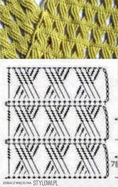 Patterns and motifs... Crochet pattern for scarf!