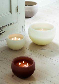large handmade candle